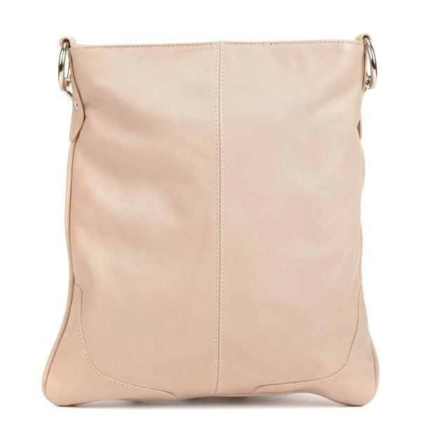 Béžová kožená kabelka Mangotti Bags Luro