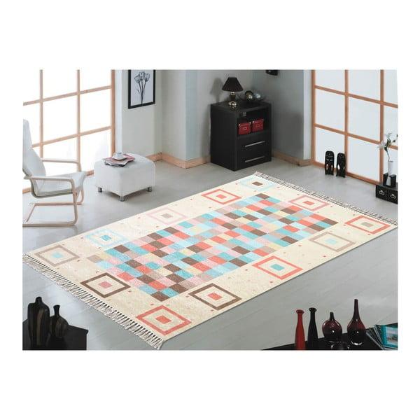 Hali Kutulu Mavi szőnyeg, 50 x 80 cm - Vitaus