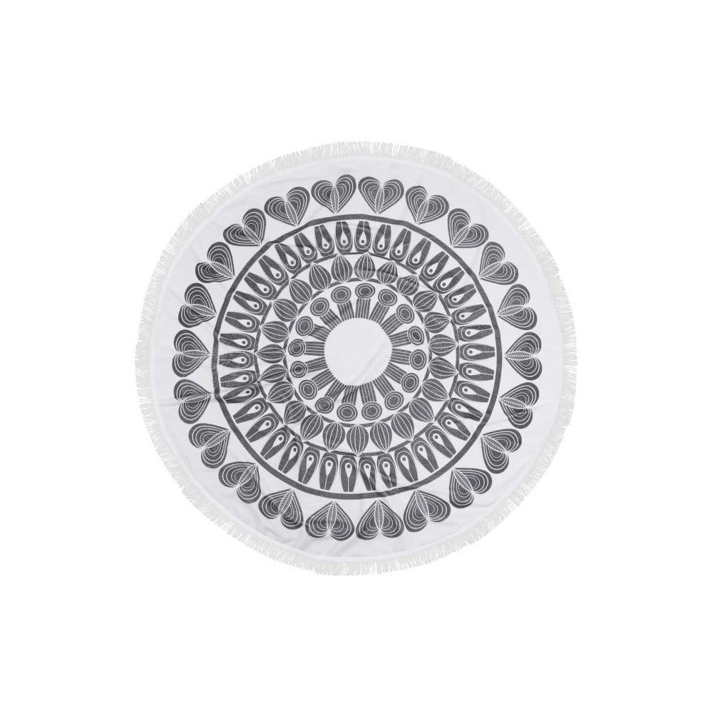 Barevná plážová osuška ze 100% bavlny Nutmeg, ⌀ 150 cm