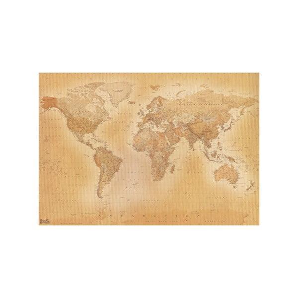 Velkoformátová tapeta Stará mapa, 366x254cm