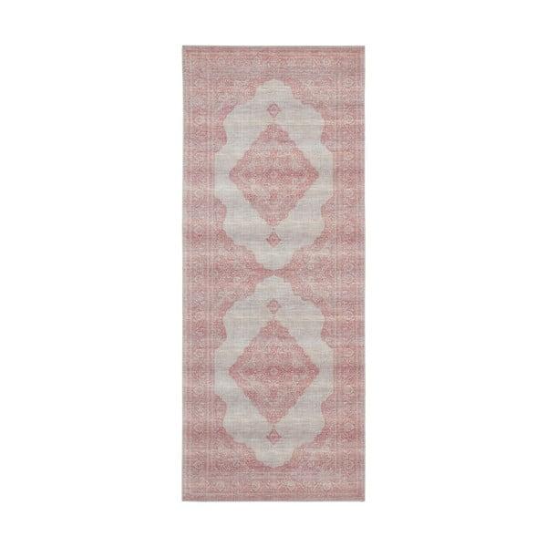 Světle červený koberec Nouristan Carme, 80 x 200 cm