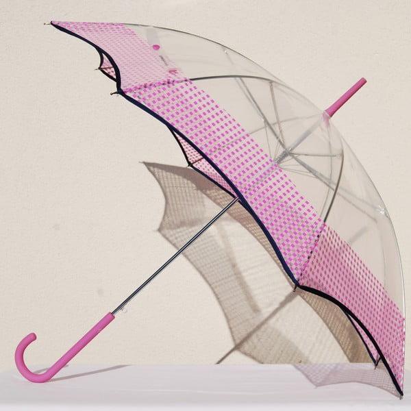 Deštník Alvarez Vichy Transparent Pink