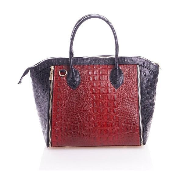 Kožená kabelka Marina, červená/černá
