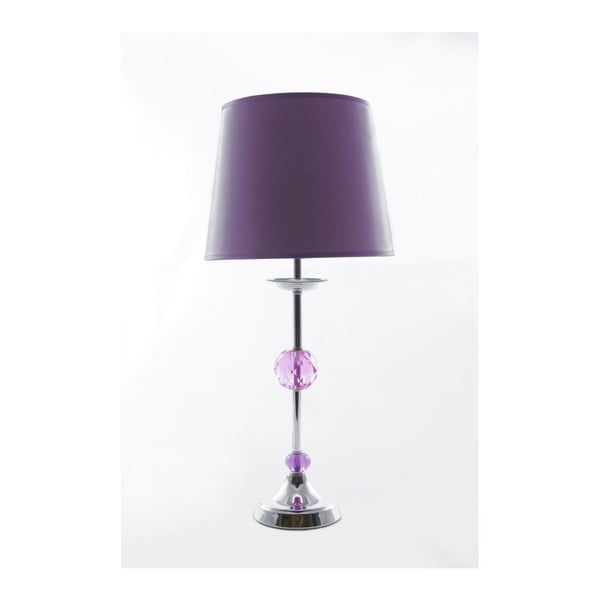 Stolní lampa Glamour Violet, 49 cm