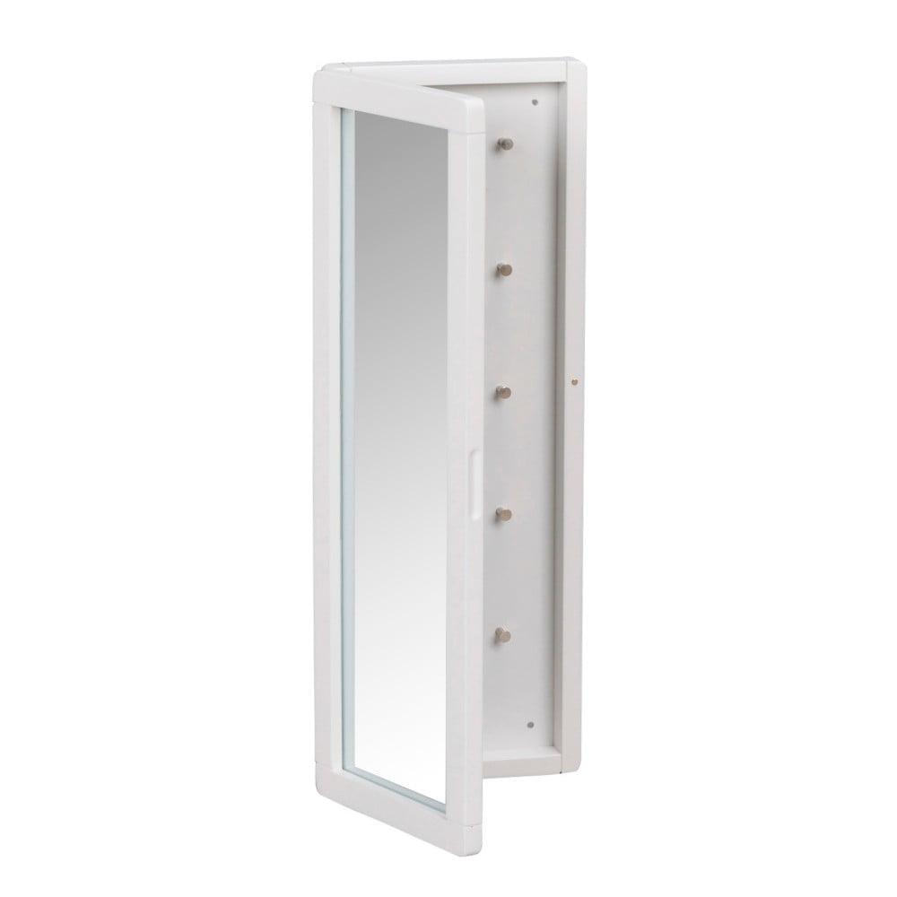 Bílá dubová zrcadlová skříňka na klíče Folke Gorgona