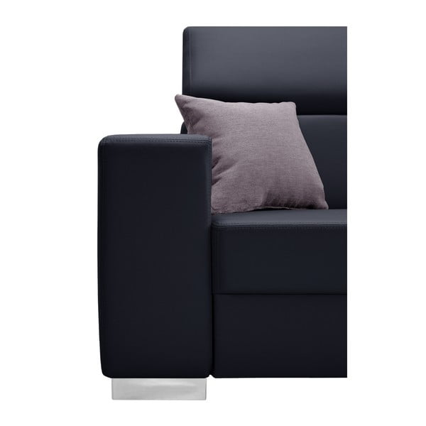 Tmavě modrá sedačka s růžovými polštáři Interieur De Famille Paris Tresor, pravý roh