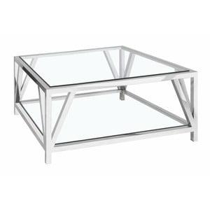 Konferenční stolek ve stříbrné barvě Artelore Brooke