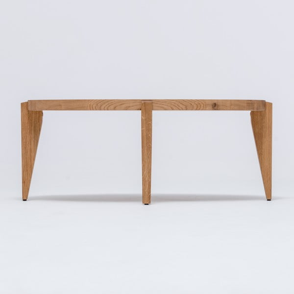 Dubový kávový stolek Bontri, 90x50 cm