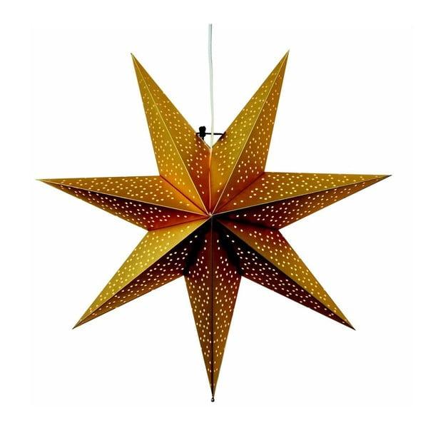 Závesná svietiaca hviezda Best Season Dot Gold, 54 cm