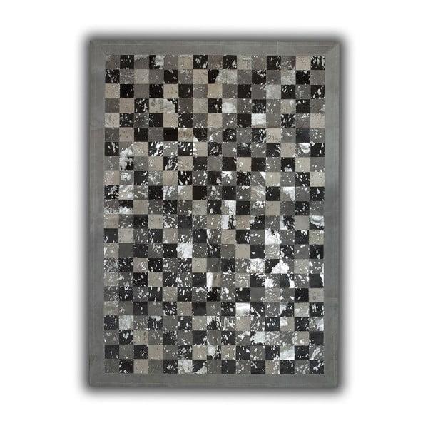 Koberec z pravé kůže Acid Grey, 140x200 cm