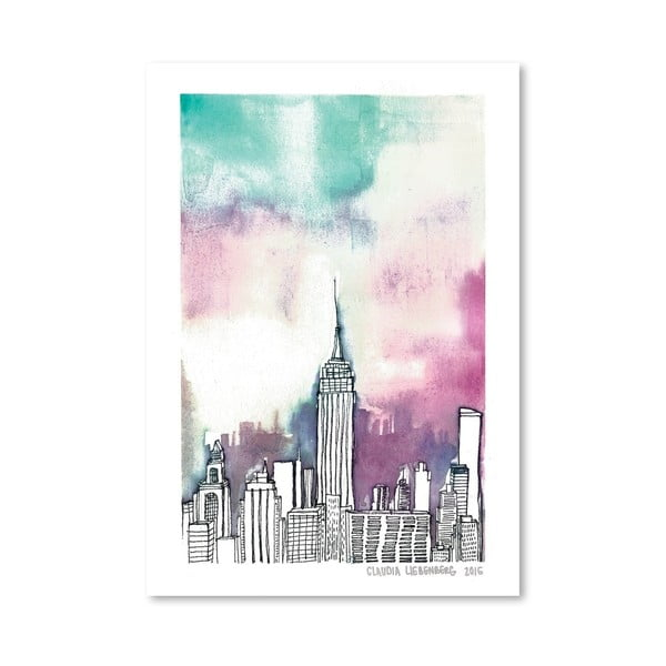 Plakát Neon Sky, 30x42 cm