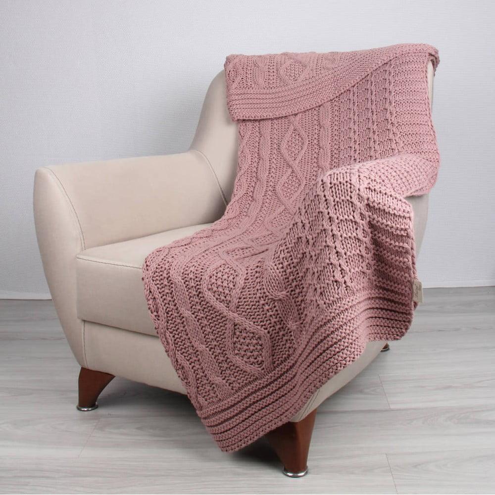 Růžová deka Teto,170x130cm