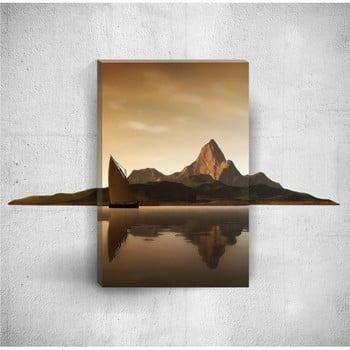 Tablou de perete 3D Mosticx Hills With Boat, 40 x 60 cm