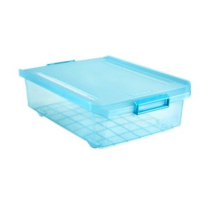 Tyrkysový úložný box pod postel Ta-Tay Storage Box, 32 l