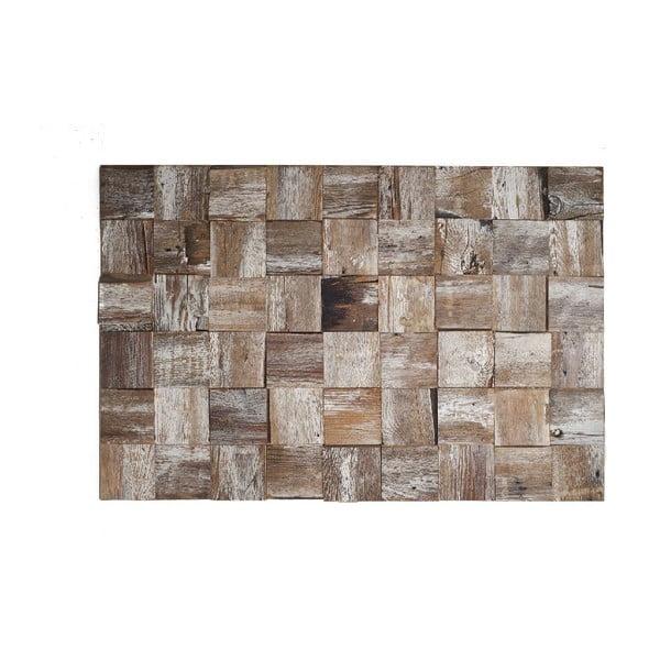 Nástěnná dekorace Wooden White, 60x90 cm