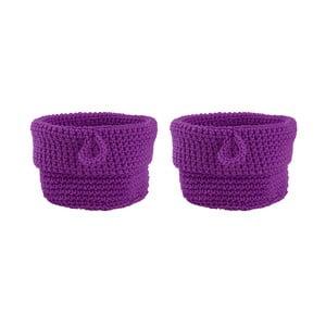 Sada 2 košíků Purple, 13 cm