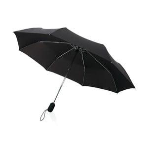 Černý skládací deštník odolný proti větru Swiss Peak