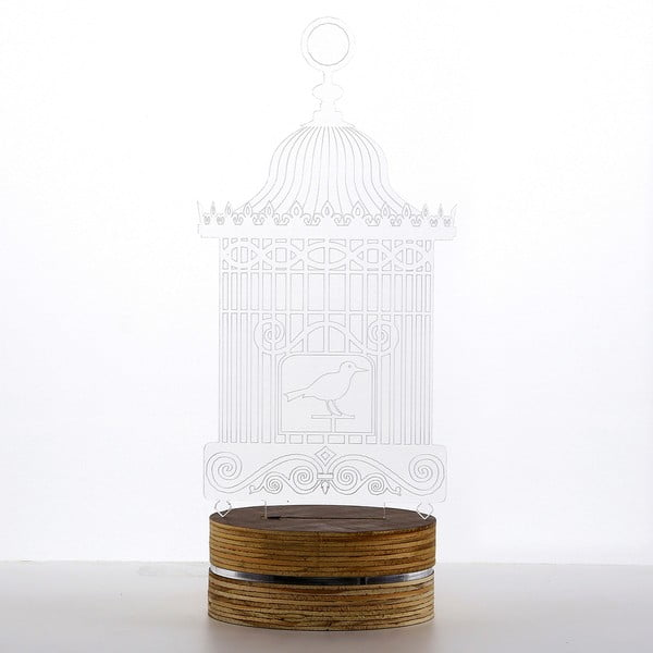 3D stolní lampa Bird Cage
