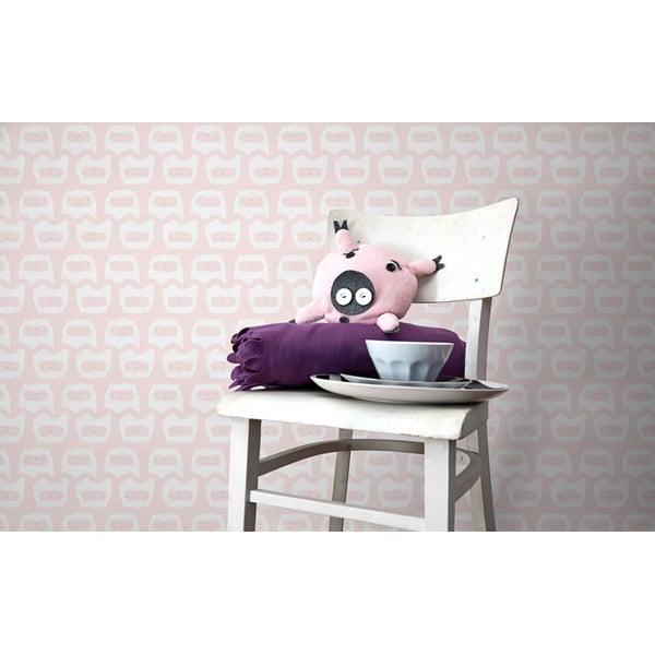 Vliesová tapeta Happy kittens 270x46.5 cm, růžová