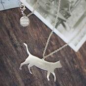 Náhrdelník Cat Sillhoutte, stříbrný