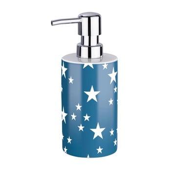 Dozator săpun lichid Wenko Stella Blue, alb albastru imagine