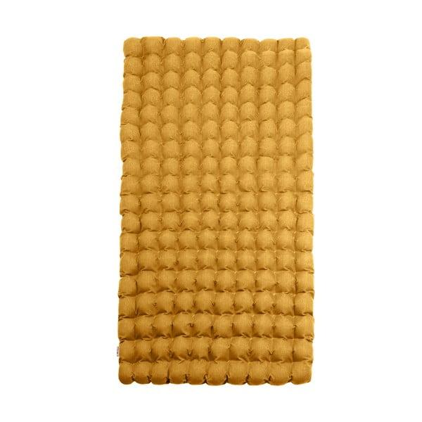 Tmavě žlutá relaxační masážní matrace Linda Vrňáková Bubbles, 110x200cm