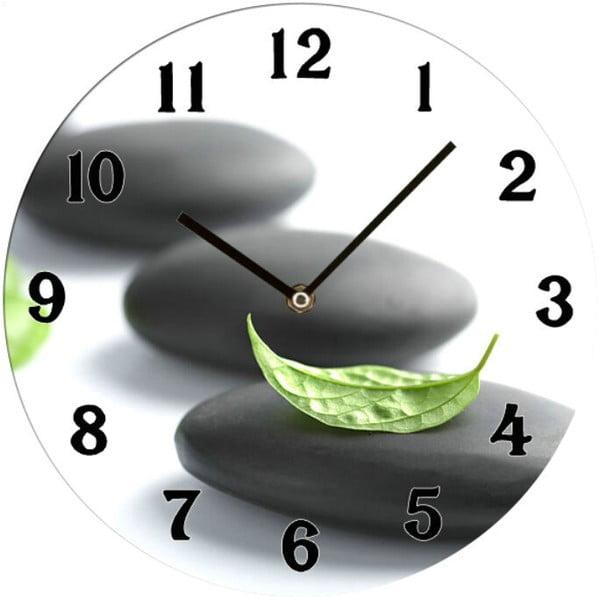 Skleněné hodiny Zen, 34 cm