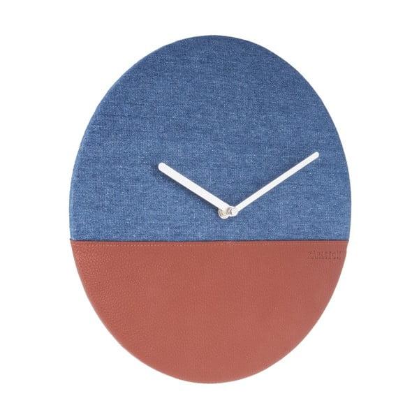 Modro-hnědé nástěnné hodiny Karlsson Surfer, Ø 30 cm