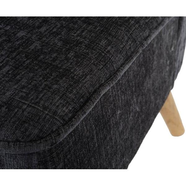 Křeslo Vaasa, šedý textilní potah