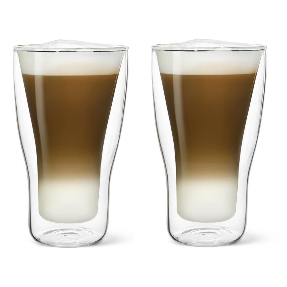Sada 2 dvoustěnných sklenic na latté Bredemeijer, 340 ml