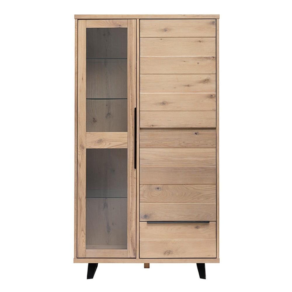 Vitrína ze dřeva bílého dubu Unique Furniture Novara