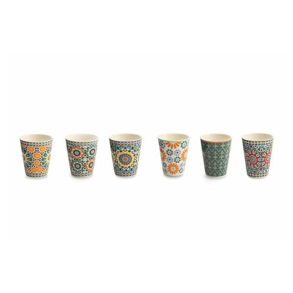 Sada 6 hrnečků z kostního porcelánu na kávu Villa d'Este Bisanzio, 90ml