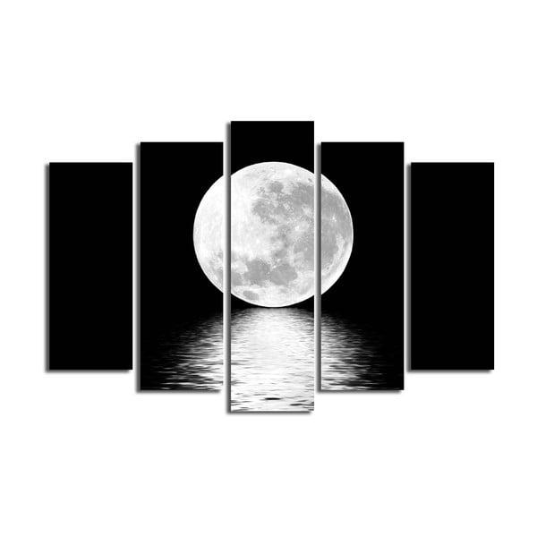 Viacdielny obraz White Moon, 105×70 cm