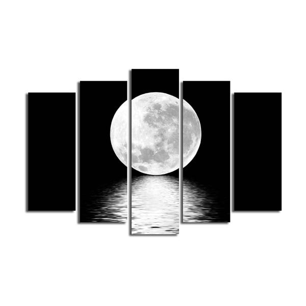 Tablou din mai multe piese White Moon, 105 x 70 cm