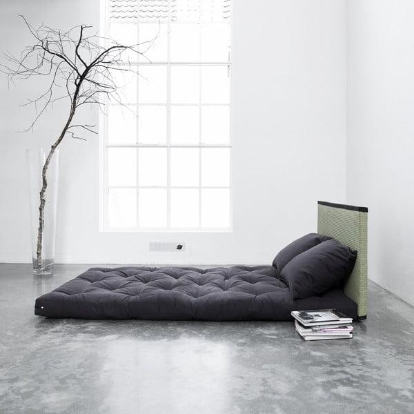 Postel/sofa Sano, černé s černými polštáři