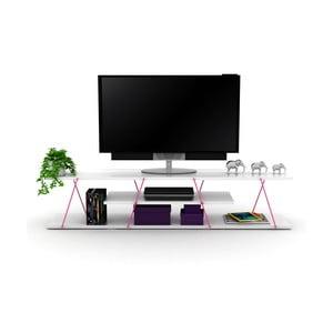 TV stolek s růžovým detailem Rafevi Tars