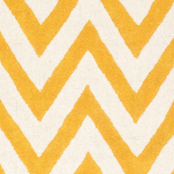 Žlutý vlněný koberec Safavieh Stella,121x182cm