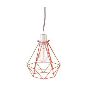 Světlo s oranžovým stínítkem a šedým kabelem Filament Style Diamond #1