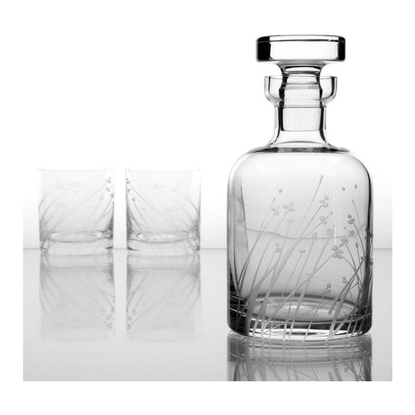 Ateliér Žampach, whisky set Len se dvěma odlivkami