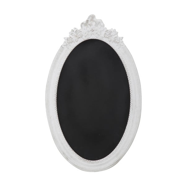 Oválna tabuľa v bielom ráme Mauro Ferretti Dublin, výška 64 cm