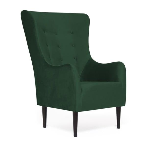 Zelené křeslo Vivonita Blair Emerald