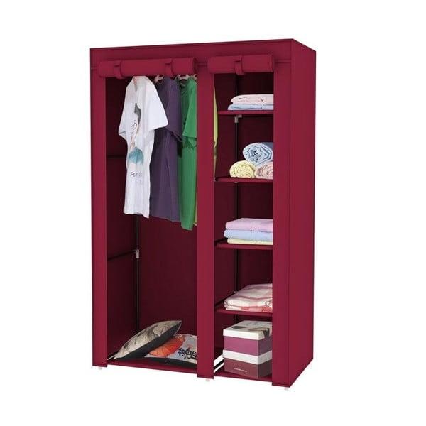 Červená textilní skříň na šaty Jocca, 178x108cm