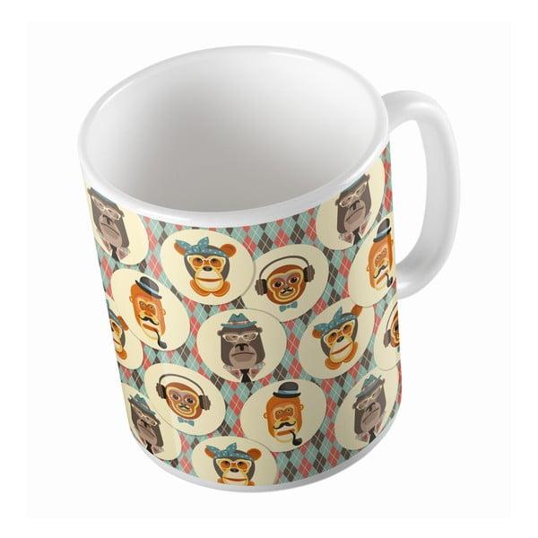 Keramický hrnek Retro Monkeys, 330 ml