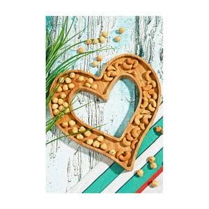 Bol servire din bambus Kosova Heart Frame, 26 x 25 cm
