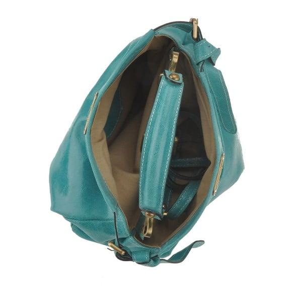 Zelenomodrá kožená kabelka Florence Electra