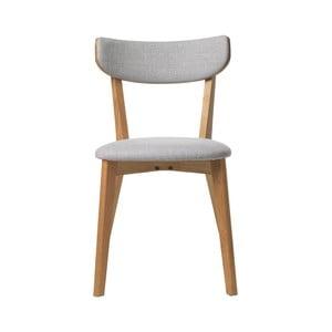 Scaun din lemn de stejar alb Unique Furniture Pero