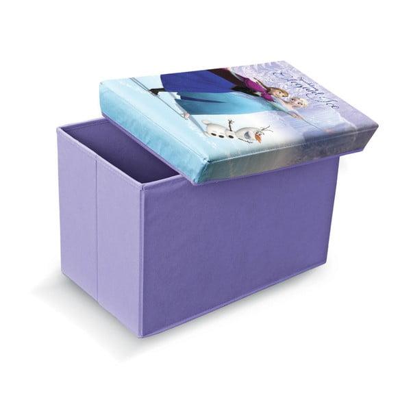 Taburet cu spațiu depozitare Domopak Living Frozen, lungime 49 cm