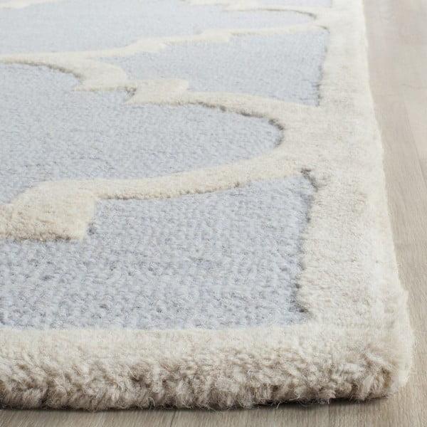 Světle modrý vlněný koberec Safavieh Clark, 152x243cm
