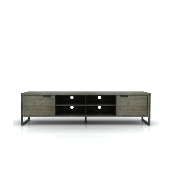 Szafka pod TV z drewna akacji Livin Hill Flow, 50x200 cm