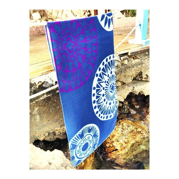 Osuška Blue Circle, 75x150 cm